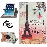 Чехол кожаный Eiffel Tower с функцией Sleep / Wake-up для iPad Air