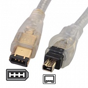 Кабель IEEE 1394 Fire Wire, 6/4pin, Gold Plated, 1.8m